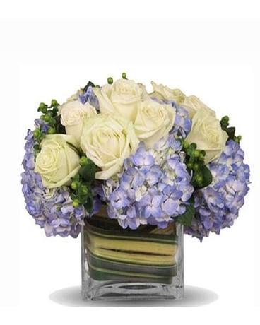 Blue Enchantment Blooms Flower Arrangement