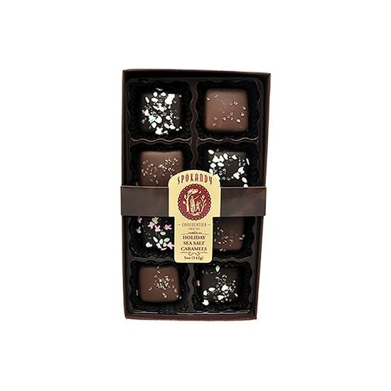 8pc Spokandy Chocolate Sea Salt Caramels