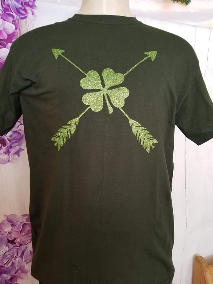 Arrow 4-Leaf Clover Crew Neck Tee Shirt S-1001