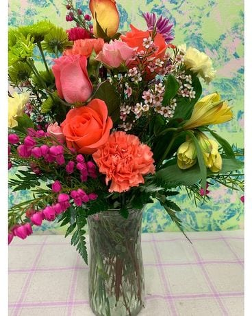 Rainbow Sherbet Flower Arrangement