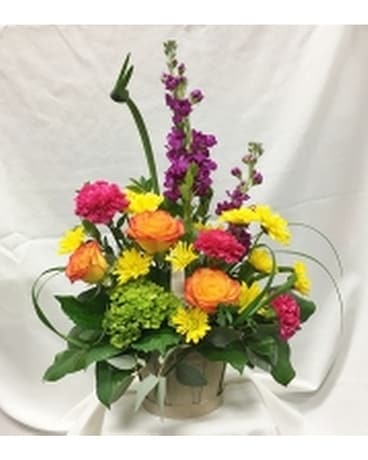 Brite Basketo Flower Arrangement