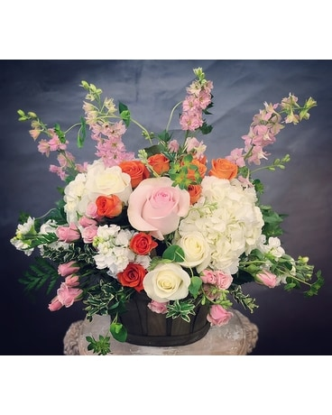 Perfect Pastel Basket Basket Arrangement