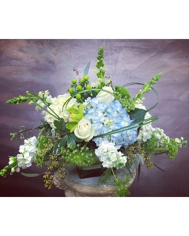 Blue Spirits Flower Arrangement