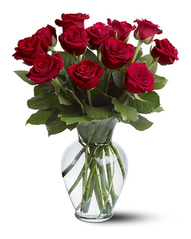 Traditional Red Rose Arrangement Flower Arrangement