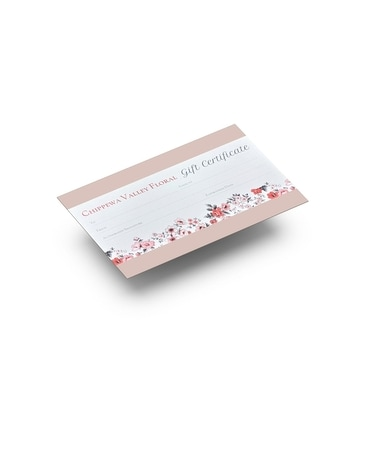 Gift Certificate's Flower Arrangement