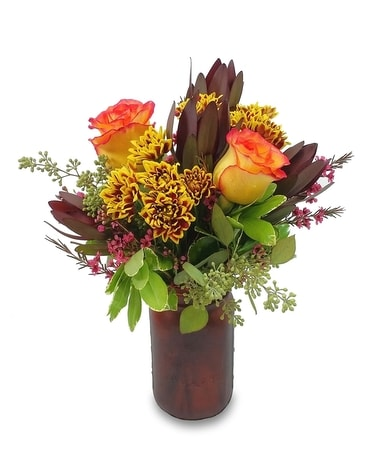Autumn Sunset Flower Arrangement