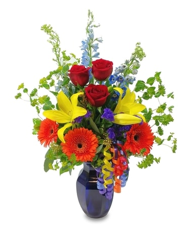 Bold Birthday Bouquet Flower Arrangement