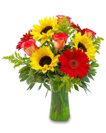 Sunflower and Gerbera Magic Flower Arrangement