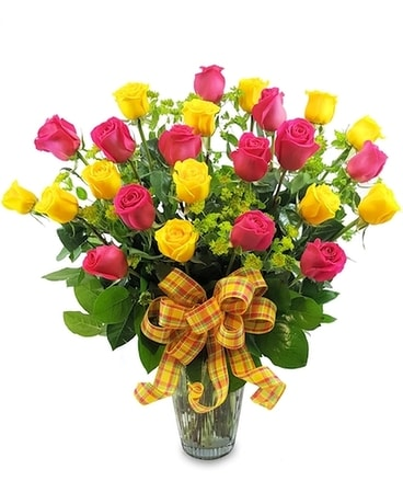 Two Dozen Spring Roses Flower Arrangement