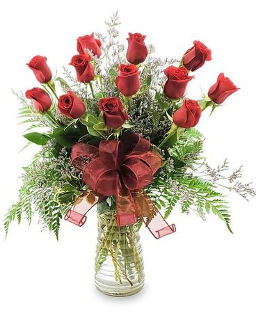 One Dozen Long-stemmed Roses Flower Arrangement