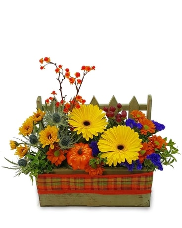 Fall Window Box Flower Arrangement