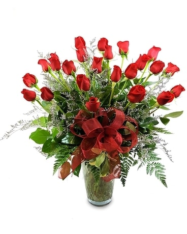 Double Dozen Long-stemmed Roses Flower Arrangement