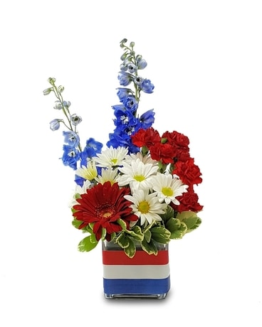 America Cubed Flower Arrangement