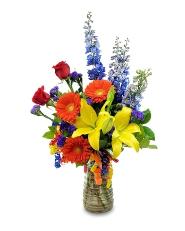 Birthday Celebration Vase Flower Arrangement