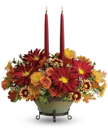 Tuscan Autumn Centerpiece Flower Arrangement