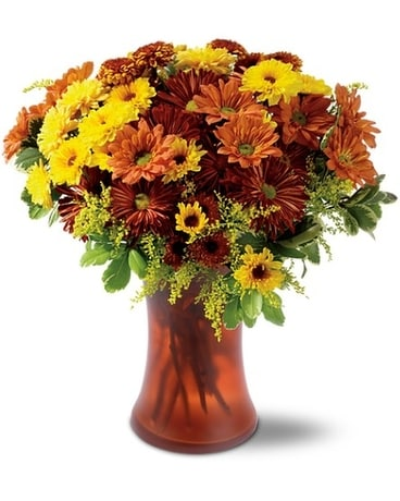 Country Chrysanthemums Flower Arrangement