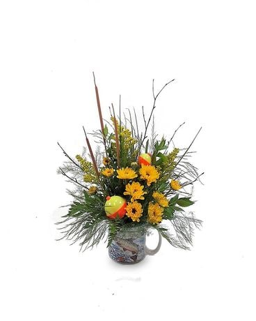 Fishing Mug Arrangement Flower Arrangement