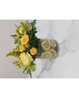 Citrus Lemon Flower Arrangement