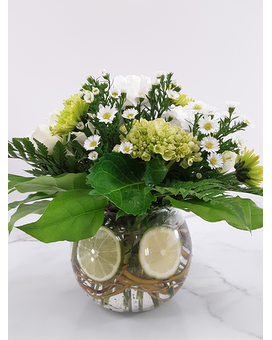 Citrus Lime Flower Arrangement