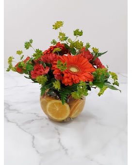 Citrus Orange Flower Arrangement