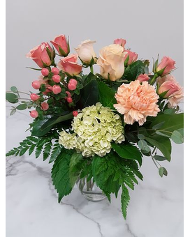 Peach Paradise Flower Arrangement