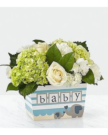 FTD Darling Baby Boy Bouquet Flower Arrangement