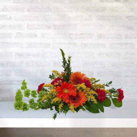 Red And Yellow Flower Arrangement Centerpiece