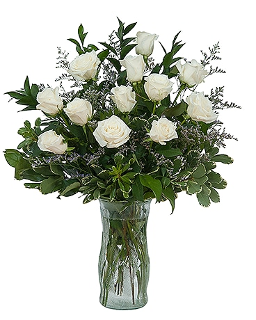 White Rose Elegance Flower Arrangement