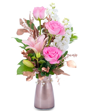 Vintage Pink Flower Arrangement