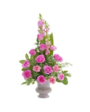 Peaceful pink small urn in rosemount mn rosemount floral peaceful pink small urn flower arrangement mightylinksfo