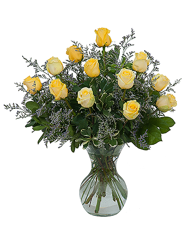 Yellow Rose Beauty Flower Arrangement