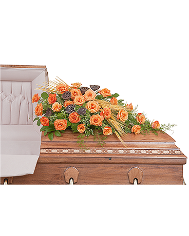 Fall Splendor Casket Spray Flower Arrangement