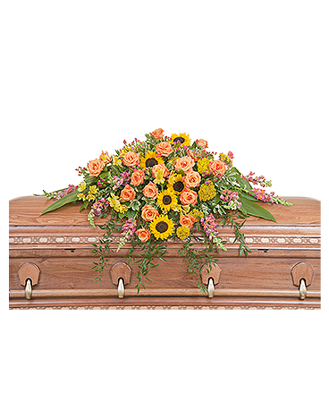 Heaven's Sunset Casket Spray Flower Arrangement