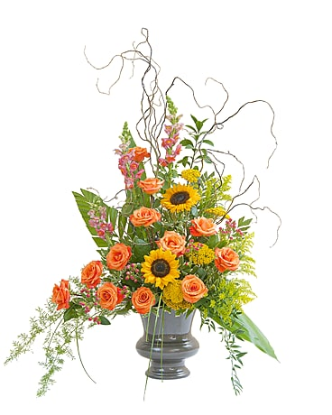 Heaven's Sunset Large Urn Flower Arrangement