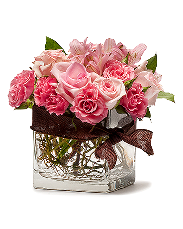 Blushing Pink Flower Arrangement