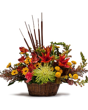 Abundant Basket Flower Arrangement