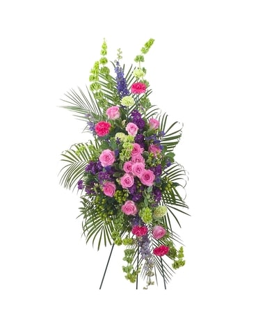 Forever Cherished Easel Spray Flower Arrangement