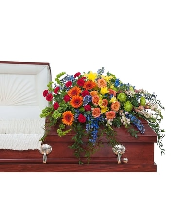 Treasured Celebration Casket Spray Flower Arrangement