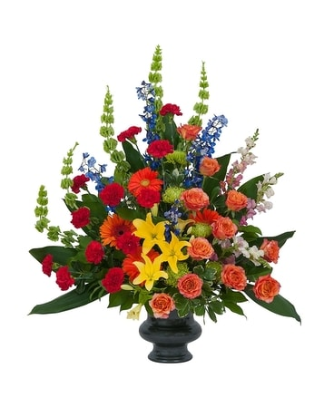 Treasured Celebration Urn Funeral Arrangement