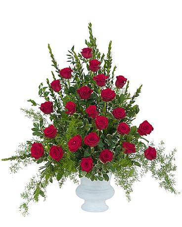 Royal Rose Urn Funeral Arrangement