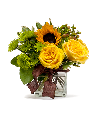 Golden Woodland Flower Arrangement