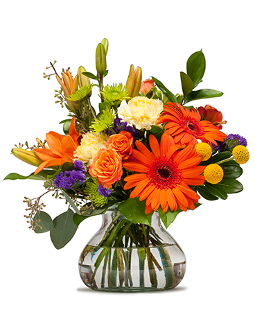 Papaya Flower Arrangement