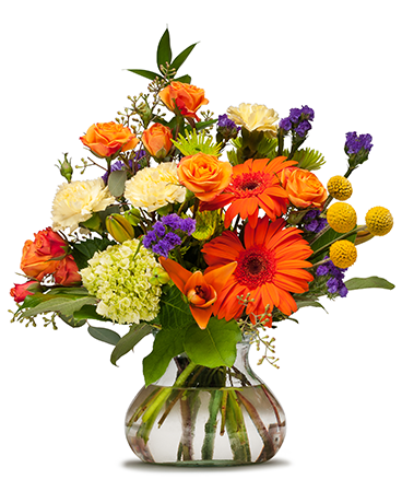 Papaya Whip Flower Arrangement