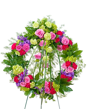 Forever Cherished Wreath Flower Arrangement