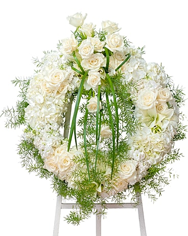 Elegant Wreath Flower Arrangement