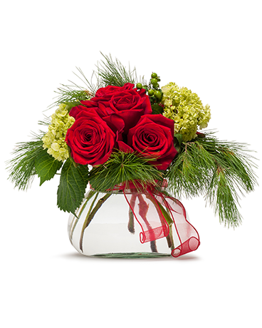 Season's Greetings Flower Arrangement