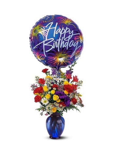 Birthday Fireworks Flower Arrangement