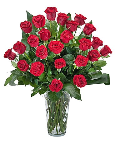 Grande Roses - Double Dozen Roses Flower Arrangement