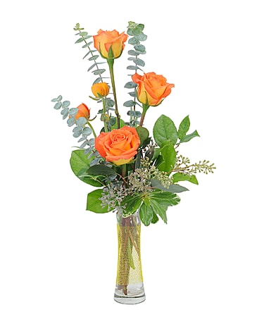 Orange Simplicity Flower Arrangement