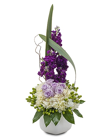 Lush and Lavender Flower Arrangement